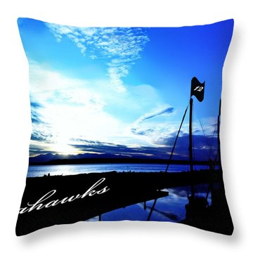 Go Seahawks Throw Pillow