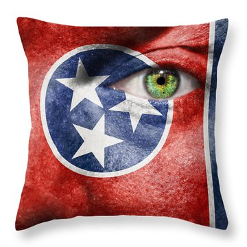Go Tennessee Throw Pillow by Semmick Photo