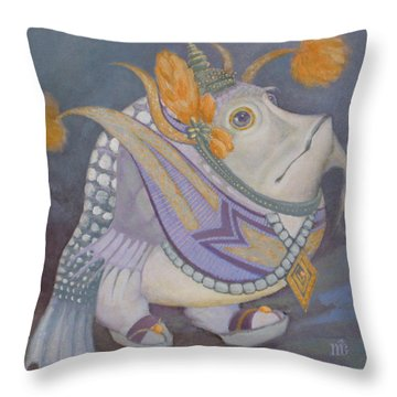 Throw Pillow featuring the painting Go Thai by Marina Gnetetsky