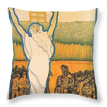 Go Up And Take Possession Of The Land Throw Pillow by Georgia Fowler