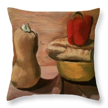 Go Vegan Throw Pillow by Mila Kronik