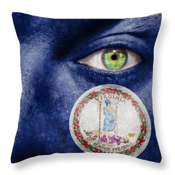 Go Virginia Throw Pillow by Semmick Photo
