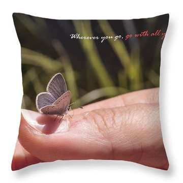 Go With All Your Heart - Confucius Throw Pillow