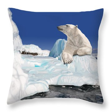 Go With The Floe Throw Pillow