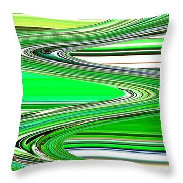 Go With The Flow Throw Pillow by Carol Groenen