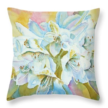 Go With The Glow Throw Pillow by Kathryn Duncan