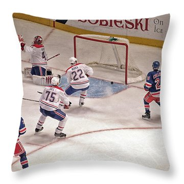 Goal Throw Pillow by Karol Livote