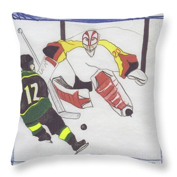 Throw Pillow featuring the drawing Shut Out By Jrr by First Star Art
