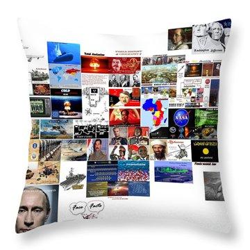 Goal Post Putin Throw Pillow