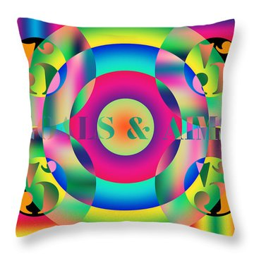 Goals And Aims Throw Pillow