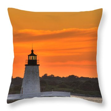 Goat Island Light Throw Pillow