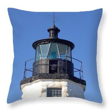 Goat Island Lighthouse Throw Pillow
