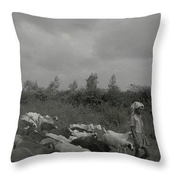 Goatherd's Delight Throw Pillow