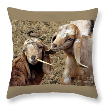 Goats #2 Throw Pillow