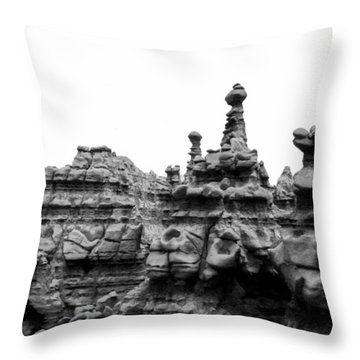 Throw Pillow featuring the photograph Goblin Tower by Tarey Potter
