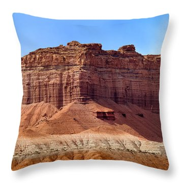 Goblin Valley Pano 2 Throw Pillow