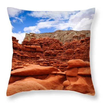 Goblin Valley State Park Throw Pillow