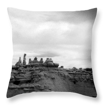 Goblin Valley Throw Pillow by Tarey Potter