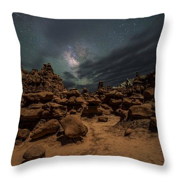Throw Pillow featuring the photograph Goblins Realm by Dustin  LeFevre