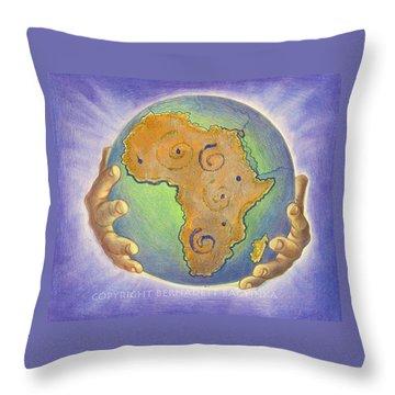 God Bless Africa Throw Pillow