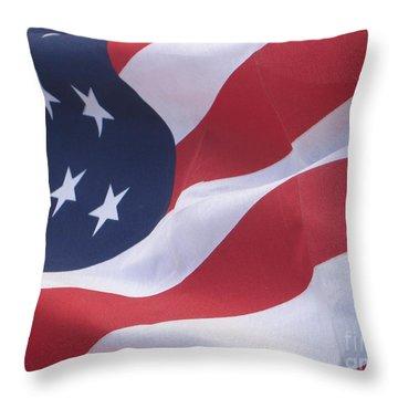 Throw Pillow featuring the photograph God Bless America by Chrisann Ellis