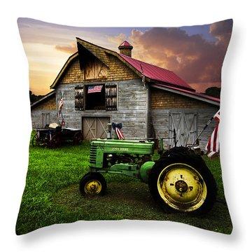 God Bless America Throw Pillow