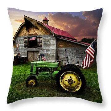 Throw Pillow featuring the photograph God Bless America by Debra and Dave Vanderlaan