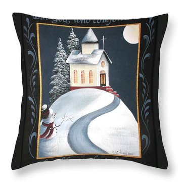 God Comforts The Humble Throw Pillow by Catherine Holman