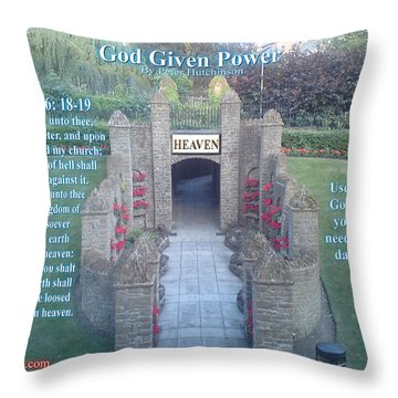 God Given Power Throw Pillow