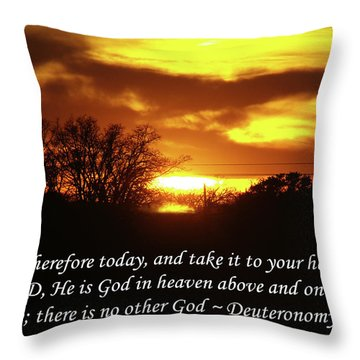 God In Heaven Throw Pillow by Robyn Stacey