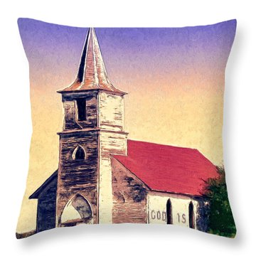 God Is Throw Pillow by Dominic Piperata