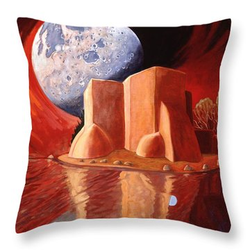 God Is In The Moon Throw Pillow