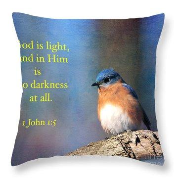 God Is Light Throw Pillow by Olivia Hardwicke