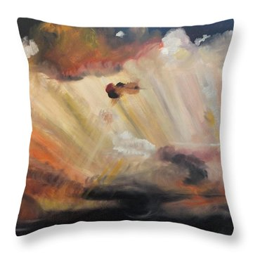God Is Truly Mighty Throw Pillow by PainterArtist FIN
