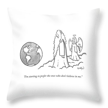 God Looks At Earth Throw Pillow