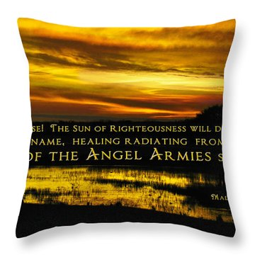 God Of Angel Armies Throw Pillow by Constance Woods