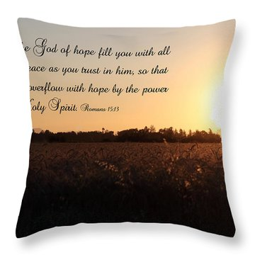 God Of Hope Throw Pillow by Erica Hanel