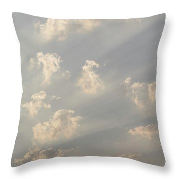 God Rays And Clouds, Okavango Delta Throw Pillow