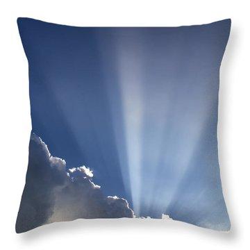 God Rays Throw Pillow