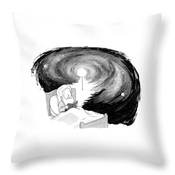 God Reads In Bed Throw Pillow
