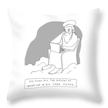 God Sits In A Throne In Heaven Throw Pillow