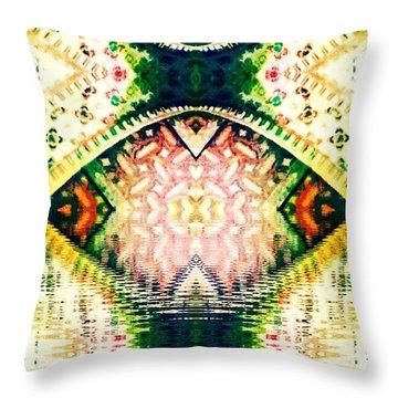 Go'd Tears Throw Pillow by Candee Lucas