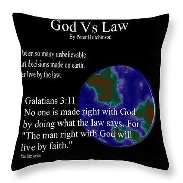 God Vs Law Throw Pillow