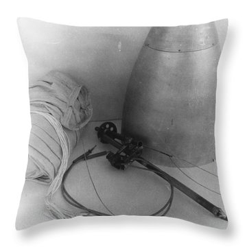 Goddards Rocket Components 1935 Throw Pillow by Science Source