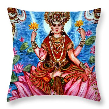 Goddess Lakshmi Throw Pillow