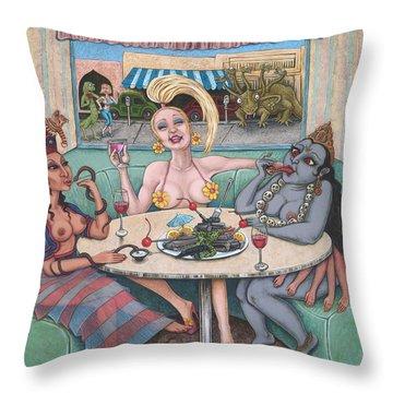 Goddess Lunch Throw Pillow