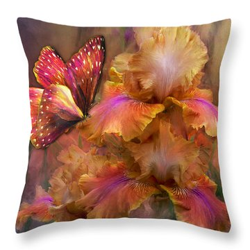 Goddess Of Sunrise Throw Pillow by Carol Cavalaris