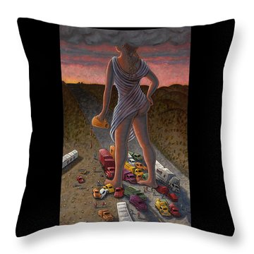 Goddess Of The Dawn Throw Pillow by Holly Wood