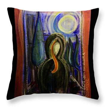 Goddess Under The Cypress Moon Throw Pillow by Mimulux patricia no No