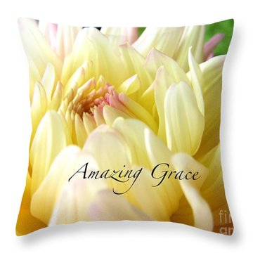 Throw Pillow featuring the photograph God's Amazing Garden by Margie Amberge